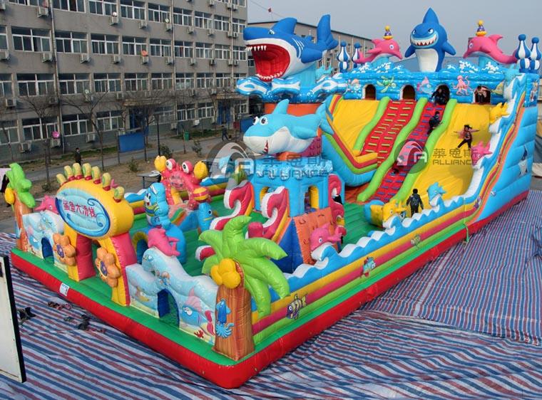 充气城堡 水晶宫海洋球乐园 移动水上乐园 支架游泳池