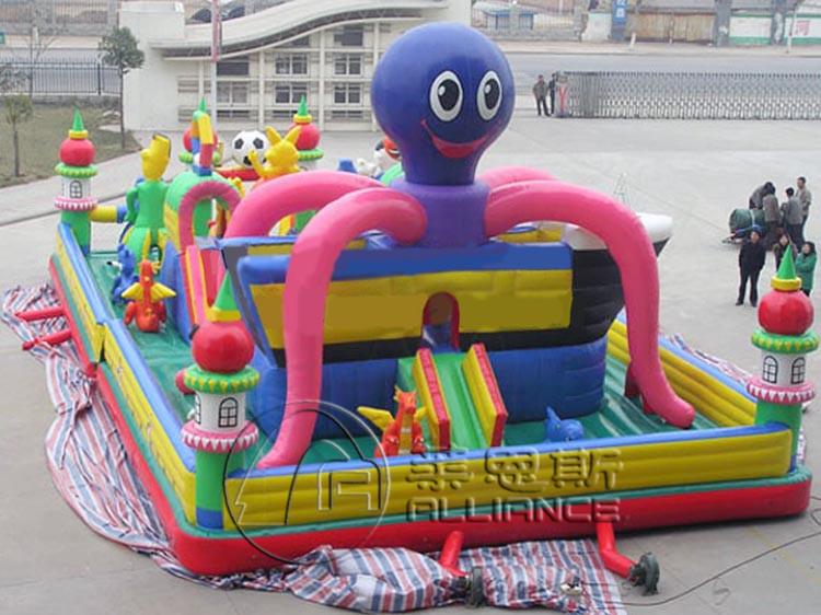 充气城堡 水晶宫海洋球乐园 移动水上乐园 支架游泳池  充气城堡价格