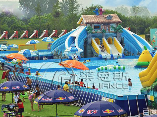 充气城堡 水晶宫海洋球乐园 移动水上乐园 支架游泳池        ,支架
